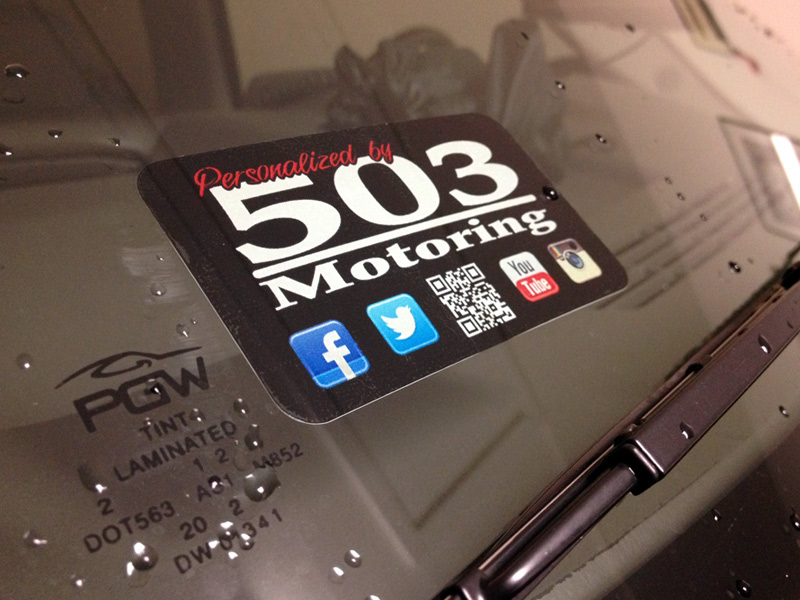 503 Motoring Windshield Decals QR Code