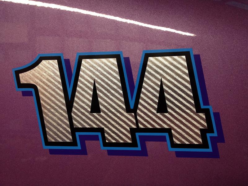 Die Cut Vinyl Decals Dump Truck Numbers