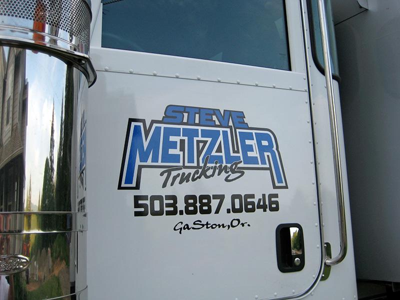 Custom dump truck door lettering design logos