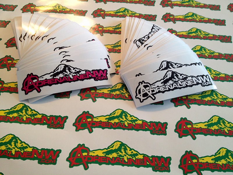 AdrenalineNW.com Full Color Printed Stickers