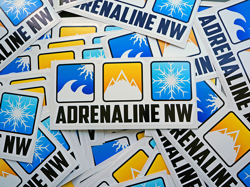 AdrenalineNW Custom Full Color Printed Die-Cut Stickers