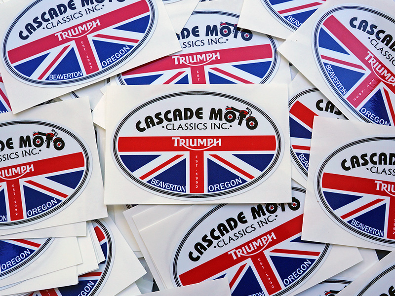 Cascade Moto Classics Beaverton Custom Stickers