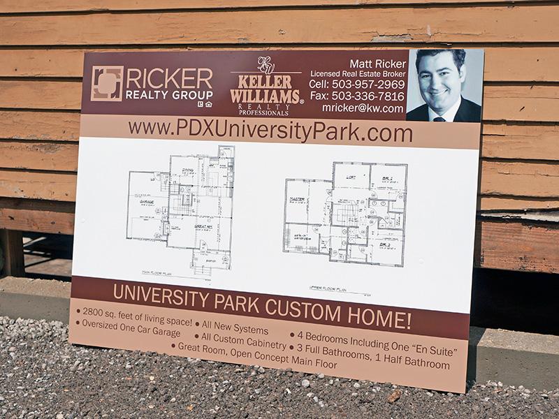 Dibond Sign Realtor Real Estate For Sale