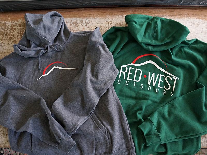Red West Outdoors Custom Printed Hoodies