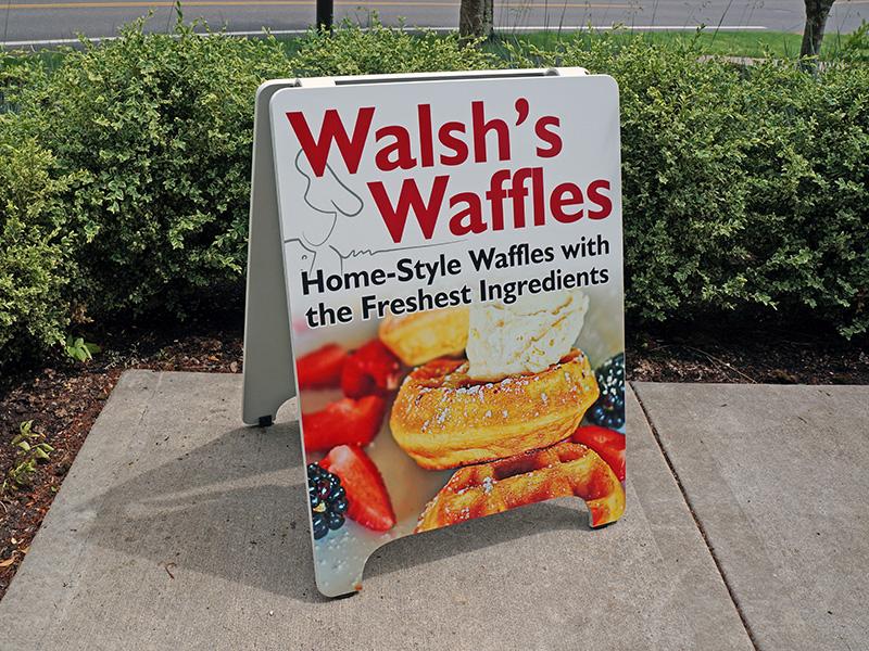 Walshs Waffles Custom Print A-Board Beaverton