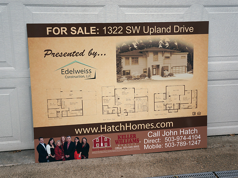 Hatch Homes Group Custom Outdoor Dibond Sign