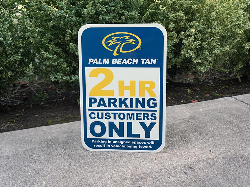 Palm Beach Tan Custom No Parking Sign Outdoors Portland