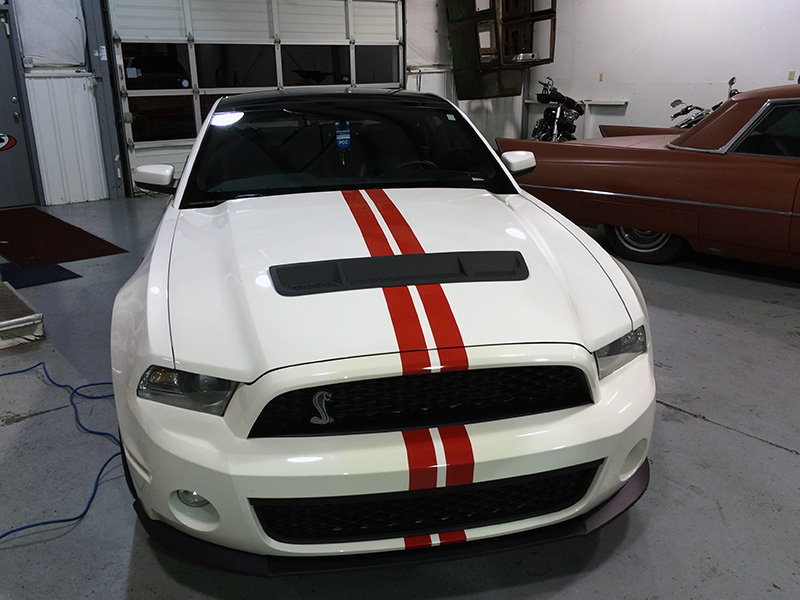 Custom Ford Mustang GT GT500 Red Stripe Kit Beaverton Hillsboro