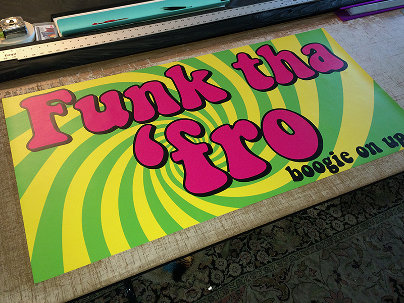 Custom Printed Party Banner Tradeshow Oregon