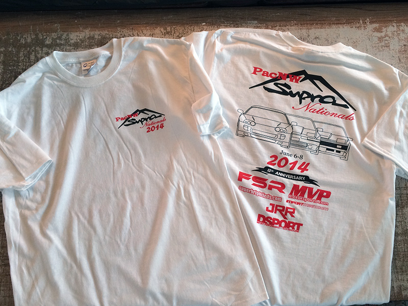 PacNW Toyota Supra Nationals Screen Print Shirts Tigard Tualatin Washington