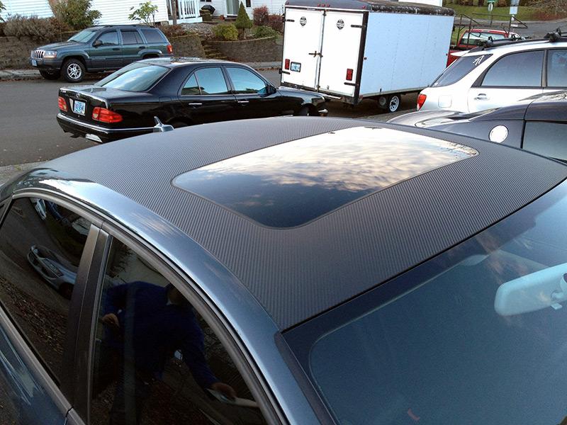 Audi Carbon Fiber 3M Roof Wrap Portland