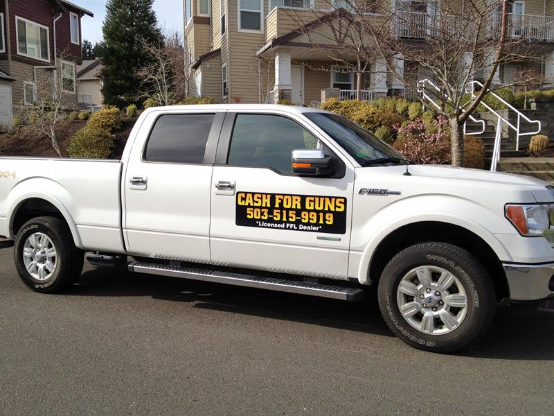 Cash for Guns Dealer Logos Vehicle