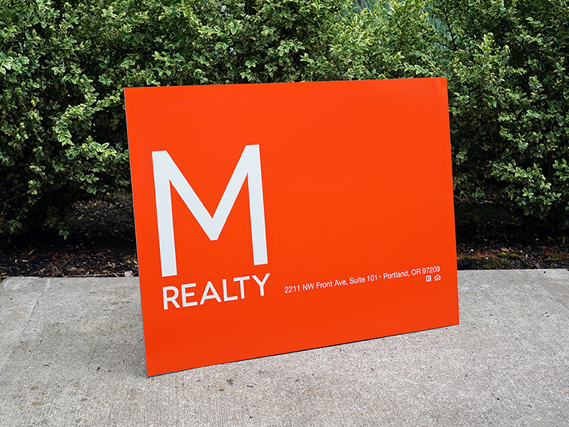 M-Realty Real Estate For Sale Signs Portland
