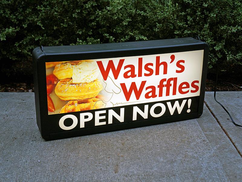 Walshs Waffles Backlit Lightbox Sign