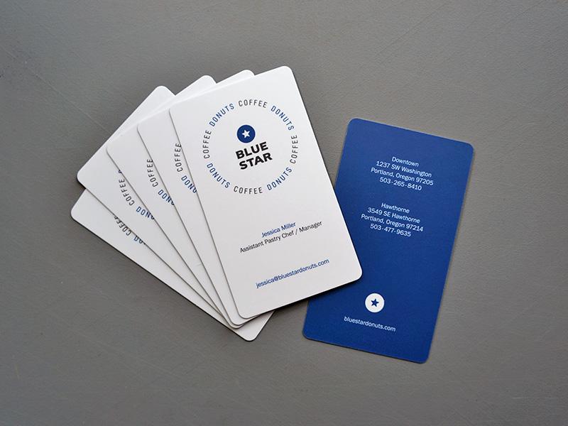 Silk Coated Business Cards Round Corners Beaverton Portland