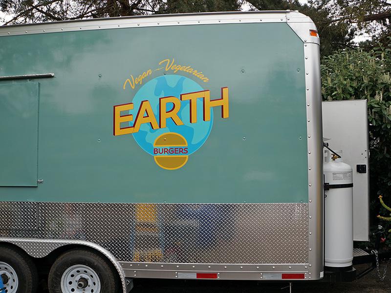Earth Burger Portland Food Truck Cart Sign Logo Tigard Hillsboro