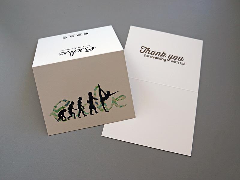 Evolve Fitwear UV High Gloss Thank you greeting Cards Tigard Tualatin Lake Oswego