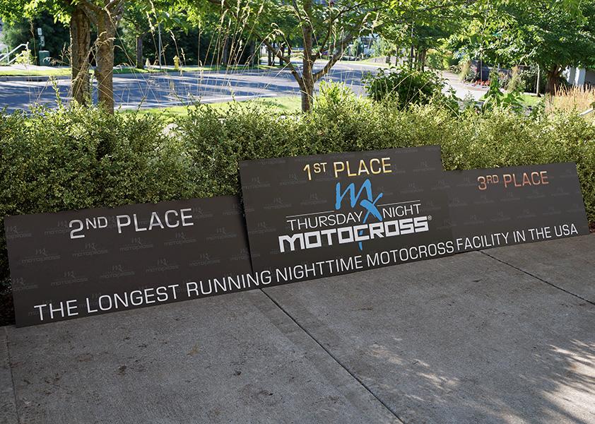 Thursday Night Motocross Custom Printed Podium Faces Skins Portland Oregon PDX