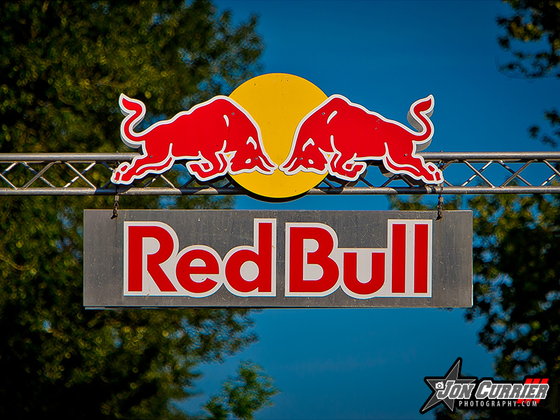 Red Bull Custom Routed Sign Printed Portland PDX Oregon
